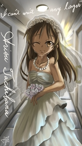 Rating: Safe Score: 1 Tags: 10s 1girl 2017 artist_request bouquet bridal_veil bride brown_eyes brown_hair ceiling character_name closed_mouth collarbone crying dated dress english flower highres idolmaster idolmaster_cinderella_girls indoors jewellery long_hair looking_at_viewer necklace one_eye_closed solo standing tachibana_arisu tears veil wedding wedding_dress white_dress User: Domestic_Importer