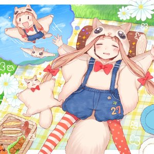 Rating: Safe Score: 0 Tags: 1girl :d animal animal_costume asymmetrical_legwear bow bowtie closed_eyes dreaming drooling flower flying flying_squirrel food grass gum_(vivid_garden) hair_ribbon highres ichihara_nina idolmaster idolmaster_cinderella_girls light_brown_hair long_hair open_mouth outdoors outstretched_arm pantyhose picnic_basket polka_dot polka_dot_legwear red_legwear ribbon sandwich sleeping smile solo sparkle spread_arms squirrel striped striped_legwear suspenders tako-san_wiener tress_ribbon |_| User: Domestic_Importer