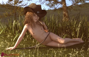 Rating: Questionable Score: 28 Tags: 1girl 3dcg american_girls_paradise angel_wings_(artist) blue_eyes cowboy_hat highres lying outdoors photorealistic playtoy sexually_suggestive User: Pieman