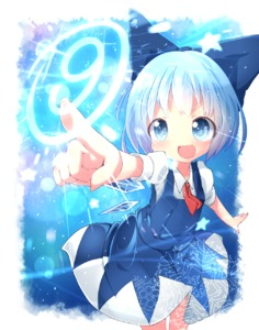 Rating: Safe Score: 0 Tags: (9) 1girl akisha blue_eyes blue_hair blush bow cirno dress fang hair_bow highres ice ice_wings open_mouth short_hair short_sleeves smile solo team_shanghai_alice touhou_project wings User: Domestic_Importer