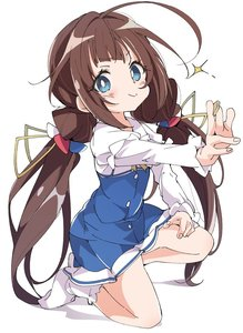 Rating: Safe Score: 2 Tags: 10s 1girl ahoge blue_eyes board_game brown_hair closed_mouth hinatsuru_ai ixy kneeling long_hair looking_at_viewer low_twintails ryuuou_no_oshigoto! school_uniform shougi shougi_piece simple_background smile socks solo twin_tails white_background User: Domestic_Importer