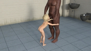 Rating: Explicit Score: 16 Tags: 1boy 1girl 3dcg age_difference ass barefoot bathroom braid fellatio flat_chest hair_pulling interracial irrumatio lynx nude oral penis photorealistic shadow testicles toilet twin_braids User: fantasy-lover