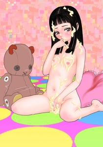 Rating: Explicit Score: 0 Tags: 1girl bangs bed black_hair blunt_bangs blush brown_eyes covered_nipples finger_in_mouth flat_chest highres indoors long_hair looking_at_viewer navel nipples nude shaved_pussy sitting solo source_request stuffed_animal stuffed_toy teddy_bear wariza zuburoku User: DMSchmidt