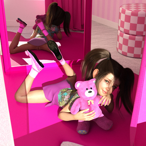 Rating: Explicit Score: 31 Tags: 1girl 3dcg black_hair blue_eyes flat_chest laura looking_at_viewer mirror photorealistic pussy shoes skinny_lover smile socks stuffed_animal stuffed_toy twin_tails User: fantasy-lover