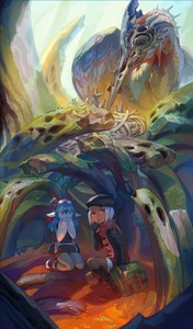 Rating: Safe Score: 0 Tags: 2girls animal_ears bird bird_nest blue_hair brown_skin coat fantasy feeding finger_to_mouth fingerless_gloves gloves goggles goggles_on_head hands_over_mouth hat hiding horns kemono kneeling long_hair looking_at_viewer monster multiple_girls original outdoors ox_(baallore) ramina_(baallore) red_eyes scarf short_hair white_hair yellow_eyes User: DMSchmidt