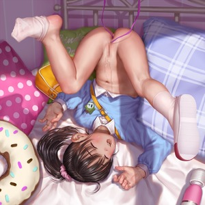 Rating: Explicit Score: 5 Tags: 1girl anal anal_object_insertion asakuraf bag bed_frame black_hair bottomless bow closed_eyes doughnut_pillow flat_chest fukuyama_mai hair_ hair_bow hair_ornament idolmaster idolmaster_cinderella_girls object_insertion User: Domestic_Importer