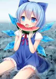 Rating: Safe Score: 1 Tags: 1girl amashiro_natsuki blue_dress blue_eyes blue_hair bow cirno dress eating food food_on_face hair_bow highres ice ice_wings open_mouth sitting solo touhou_project water wings User: DMSchmidt