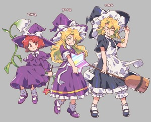 Rating: Safe Score: 0 Tags: 3girls akiyoku apron black_dress black_footwear blonde_hair broom closed_eyes dress frilled_dress frills grey_background hat holding holding_broom kirisame_marisa kirisame_marisa_(pc-98) long_hair long_sleeves multiple_girls multiple_persona parted_lips purple_dress purple_footwear purple_hat red_eyes red_hair shoes short_hair short_sleeves simple_background socks star teeth touhou_project white_legwear witch_hat yellow_eyes User: DMSchmidt