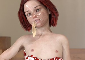 Rating: Explicit Score: 17 Tags: 1girl 3dcg breasts condom condom_in_mouth cum dress facial flat_chest green_eyes looking_at_viewer marcopolos nipples photorealistic pose red_hair self_upload shadow small_breasts standing used_condom User: marcopolos