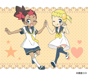 Rating: Safe Score: 2 Tags: 2girls alternate_costume arm_up blonde_hair creatures_(company) eureka_(pokemon) game_freak hoshi_(pokemon) koudzuki_(reshika213) multiple_girls nintendo pokemon pokemon_(anime) pokemon_sm_(anime) pokemon_xy_(anime) User: Domestic_Importer