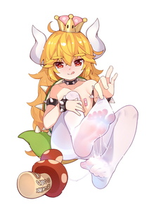 Rating: Explicit Score: 11 Tags: 1girl :q absurdres bandaid bandaids_on_nipples bangs bare_shoulders blonde_hair blush bowsette bracelet closed_mouth collar collarbone crown cum curled_up eyebrows_visible_through_hair feet fingernails flat_chest genderswap genderswap_(mtf) hair_between_eyes heart heart-shaped_pupils highres horns jewellery looking_at_viewer mario_(series) mini_crown mushroom new_super_mario_bros._u_deluxe no_shoes nose_blush pantyhose pasties red_eyes see-through sexually_suggestive sitting smile solo spiked_bracelet spiked_collar spiked_shell spiked_tail spikes suggestive_fluid super_crown symbol-shaped_pupils tail toenails tongue tongue_out topless tsubasa_tsubasa turtle_shell underwear underwear_only white_background white_legwear younger User: DMSchmidt