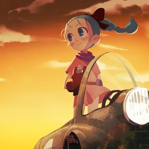 Rating: Safe Score: 0 Tags: 1girl aqua_hair blue_eyes blush bow braid bulma cloud dragon_ball dragon_ball_z dress gloves hair_bow highres kunitarou-art short_sleeves sky smile solo standing sunset younger User: DMSchmidt