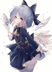 Rating: Safe Score: 0 Tags: 1girl absurdres alternate_costume blue_dress blue_eyes blue_hair bow bowtie cirno cowboy_shot dress formal garter_straps gloves hair_bow happy highres hito_komoru ice ice_wings lace light_particles looking_at_viewer looking_to_the_side shadow short_hair smile solo touhou_project white_gloves wings User: DMSchmidt