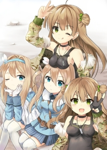 Rating: Safe Score: 0 Tags: 4girls ahoge ali_(wwwwwwrt) bare_shoulders belt between_breasts black_dress blue_eyes bow breast_rest breasts breasts_on_head brown_hair choker coat dog_tags double_bun dress dual_persona eyebrows_visible_through_hair fingerless_gloves fur_trim girls_frontline gloves green_eyes hair_between_eyes hair_bow hairband head_rest jacket long_hair looking_at_viewer medium_breasts multiple_girls open_clothes open_jacket rfb_(girls_frontline) siblings sitting skirt strap_cleavage striped suomi_kp31_(girls_frontline) thighhighs twins v vertical-striped_skirt vertical_stripes white_legwear winter_clothes winter_coat zettai_ryouiki User: Domestic_Importer