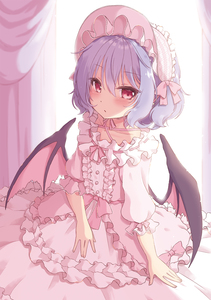 Rating: Safe Score: 4 Tags: 1girl alternate_costume alternate_headwear bangs bat_wings beni_kurage blue_hair blush bonnet bow center_frills collarbone cowboy_shot criss-cross_halter curtains dress eyebrows_visible_through_hair frills hair_between_eyes halterneck highres layered_dress lolita_fashion looking_at_viewer parted_lips pink_bow pink_dress pink_ribbon pink_sash puffy_short_sleeves puffy_sleeves red_eyes remilia_scarlet ribbon ribbon_trim sash short_hair short_sleeves solo sweet_lolita touhou_project wings User: DMSchmidt