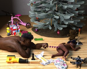Rating: Explicit Score: 8 Tags: 1boy 1girl 3dcg age_difference anal_beads anal_object_insertion brown_skin butt_plug christmas_tree nude original photorealistic present pussy sex_toy short_hair slimdog uncensored wooden_floor User: Domestic_Importer