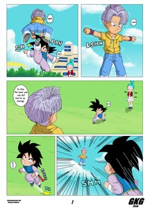 Rating: Safe Score: 1 Tags: 1girl 2boys absurdres artist_name black_eyes black_hair blue_eyes blue_hair blue_sky bra_(dragon_ball) building closed_mouth cloudy_sky commission day denim dragon_ball dress gkg highres jacket jeans looking_at_another multiple_boys outdoors outstretched_arm pants polka_dot polka_dot_dress shota son_goten standing text trunks_(dragon_ball) white_dress User: Domestic_Importer