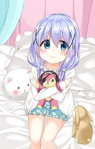 Rating: Safe Score: 0 Tags: 1girl angora_rabbit animal bangs bed blue_eyes blue_hair blue_shirt blue_shorts blush bunny cacao_(chocolat) closed_mouth eyebrows_visible_through_hair eyepatch frilled_pillow frilled_shirt frilled_skirt frills gochuumon_wa_usagi_desu_ka? hair_between_eyes hairband highres hood hoodie kafuu_chino lolita_hairband long_sleeves looking_at_viewer object_hug open_clothes open_hoodie pajamas pillow shirt shorts sitting skirt stuffed_animal stuffed_bunny stuffed_toy tippy white_hoodie User: Domestic_Importer