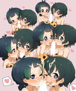 Rating: Explicit Score: 7 Tags: 2girls <3 ass black_eyes black_hair blue_eyes blush breasts censored cum ejaculation facial fellatio gradient_hair heart heart-shaped_pupils heterochromia highres inaba31415 kaban_(kemono_friends) kemono_friends kyururu_(kemono_friends) licking looking_at_viewer multicoloured_hair multiple_girls nude open_mouth oral penis ponytail saliva short_hair simple_background skirt small_breasts smile sweat symbol-shaped_pupils tongue User: Domestic_Importer