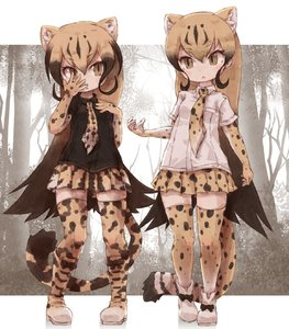 Rating: Safe Score: 1 Tags: >:< 2girls black_hair black_shirt blonde_hair boots bow breast_pocket brown_hair cheetah_(kemono_friends) cheetah_ears cheetah_tail collared_shirt elbow_gloves eyebrows_visible_through_hair gloves gradient_hair hand_in_front_of_face highres kemono_friends king_cheetah_(kemono_friends) kolshica long_hair multicoloured_hair multiple_girls necktie pleated_skirt pocket shirt shoe_bow shoes short_sleeves skirt thighhighs white_shirt zettai_ryouiki User: DMSchmidt