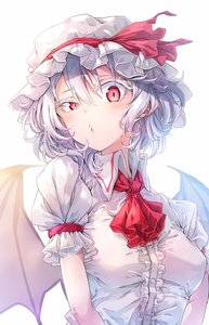 Rating: Safe Score: 0 Tags: 1girl ascot bangs bat_wings blush breasts coloured_eyelashes darjeeling_(reley) dress hair_between_eyes hat hat_ribbon highres looking_at_viewer mob_cap puffy_short_sleeves puffy_sleeves red_eyes red_neckwear red_ribbon remilia_scarlet ribbon short_hair short_sleeves silver_hair simple_background small_breasts solo touhou_project uneven_eyes upper_body white_background white_dress white_headwear wing_collar wings User: DMSchmidt