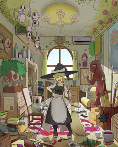 Rating: Safe Score: 0 Tags: 1girl ^_^ air_conditioner apron beaker black_dress blonde_hair board_game bone book book_stack bottle bow box braid brooch broom bucket candle chair chandelier chest chest_of_drawers closed_eyes corkboard couch cuckoo_clock cup curtains desk display_case dress flail flask frills hand_on_hip hat hat_bow highres ink_bottle jewellery kirisame_marisa long_hair mask messy_room mug mushroom okahi open_mouth paint paintbrush paper_stack polearm poster_(object) pumpkin radio room round_teeth ruler scale scissors scroll short_sleeves single_braid skull smile spear spoon statue stuffed_animal stuffed_toy sword teacup teapot teddy_bear teeth touhou_project tsuchinoko vase weapon window witch_hat wristband yarnball User: DMSchmidt