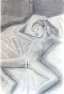 Rating: Explicit Score: 28 Tags: 1girl ankle_socks bangs bed brian_babinski closed_eyes flat_chest head_tilt legs_apart navel nipples nude pillow sleeping socks twin_tails User: mythified