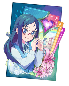 Rating: Safe Score: 0 Tags: 11_(dekopon3rd) 2girls aida_mana blue_eyes blue_hair card dokidoki!_precure eyelashes fingers flower glasses half_updo hands heart hishikawa_rikka long_hair looking_at_viewer moudoku_(decopon3rd) multiple_girls palms precure red-framed_glasses User: DMSchmidt