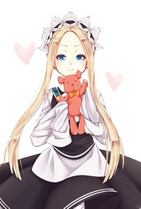 Rating: Safe Score: 0 Tags: 1girl abigail_williams_(fate/grand_order) artist_request bangs black_dress blonde_hair blue_eyes dress fate/grand_order fate_(series) hair_ornament heart highres long_hair looking_at_viewer object_hug parted_bangs simple_background sleeves_past_fingers sleeves_past_wrists solo stuffed_animal stuffed_toy teddy_bear white_background white_dress User: DMSchmidt