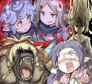 Rating: Safe Score: 1 Tags: 5girls absurdres animalization blonde_hair blue_hair curly_hair dango_(235389ja) eyepatch flower gon-san gorilla granblue_fantasy harvin highres hunter_x_hunter light_brown_hair long_hair lunalu_(granblue_fantasy) mahira_(granblue_fantasy) melissabelle milleore multiple_girls pointy_ears purple_hair rose sahli_lao shaded_face sparkle very_long_hair User: DMSchmidt