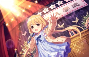 Rating: Safe Score: 1 Tags: :d alternate_costume annin_doufu bird blonde_hair brown_eyes candy cardigan dress eyebrows_visible_through_hair flower food futaba_anzu idolmaster idolmaster_cinderella_girls idolmaster_cinderella_girls_starlight_stage long_hair low low_twintails microphone official_art open_mouth plaid ribbon smile solo sparkle stage stage_lights twin_tails User: Domestic_Importer