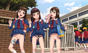 Rating: Explicit Score: 22 Tags: 6+girls anime801 backpack bag bangs blue_sky blunt_bangs closed_mouth cloud day dildo double_v hat highres long_hair long_sleeves looking_at_viewer masturbation multiple_girls necktie nopan object_insertion open_mouth original outdoors pussy pussy_juice randoseru school school_hat school_uniform sex_toy skirt skirt_lift sky thighhighs thighs tongue tongue_out v vaginal vaginal_object_insertion vibrator walking white_legwear wind_lift zettai_ryouiki User: Domestic_Importer