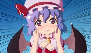 Rating: Safe Score: 0 Tags: 1girl ascot bat_wings blush bow brooch cheek_pinching erwnoid hat hat_bow highres jewellery lavender_hair mob_cap pinching red_eyes remilia_scarlet short_hair touhou_project upper_body wings User: DMSchmidt