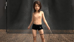 Rating: Questionable Score: 14 Tags: 1girl 3dcg brown_hair fishnets flat_chest laura_kinney looking_at_viewer lunarctic navel nipples photorealistic pose shorts smile standing thighhighs wolverine x-23 x-men User: fantasy-lover
