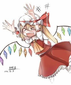 Rating: Safe Score: 0 Tags: +++ 1girl :d >_< arms_up artist_name ascot blonde_hair blush bow collarbone cropped_legs dated fang flandre_scarlet frilled_skirt frills happy hat hat_bow hell.k highres mob_cap open_mouth puffy_short_sleeves puffy_sleeves shirt short_hair short_sleeves side_ponytail simple_background skirt skirt_set smile solo touhou_project white_background white_shirt wings wrist_cuffs xd yellow_neckwear User: DMSchmidt