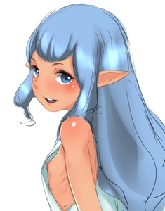 Rating: Questionable Score: 4 Tags: 1girl blue_eyes blue_hair final_fantasy final_fantasy_xi flat_chest highres long_hair mokokusa nipple_slip nipples pointy_ears prishe solo upper_body User: DMSchmidt