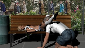 Rating: Explicit Score: 1 Tags: 1boy 1girl 3dcg age_difference alcohol beer bench blonde_hair bottle drunk fence flat_chest implied_cunnilingus jeans_skirt kneehighs lying mary_janes miniskirt on_back open_shirt outdoors passed_out photorealistic shoes skirt viper viper_3d_lolicon_pack User: Software