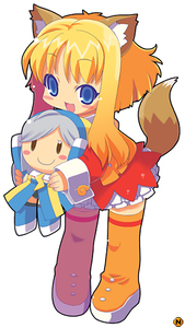 Rating: Safe Score: 0 Tags: 1girl animal_ears blonde_hair blue_eyes boots cat_ears chibi firefox orange_footwear os-tan personification skirt solo tail thunderbird zankuro User: DMSchmidt