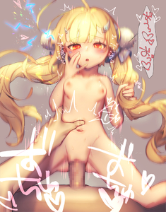 Rating: Explicit Score: 4 Tags: 1girl ahoge azur_lane blonde_hair blush bouncing_breasts breasts censored drooling eldridge_(azur_lane) electricity grey_background hair_ornament hairclip hand_on_own_face hand_on_shoulder heart heart-shaped_pupils long_hair looking_back mirin_chikuwa open_mouth penis red_eyes small_breasts straddling symbol-shaped_pupils twin_tails User: Domestic_Importer