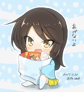 Rating: Safe Score: 0 Tags: 1girl :d bangs blue_background blue_headwear blue_legwear blue_shirt blush_stickers brown_eyes brown_hair candy dated eyebrows_visible_through_hair f girls_und_panzer jinguu_(4839ms) mika_(girls_und_panzer) open_mouth smile User: Domestic_Importer