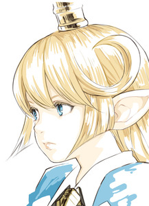 Rating: Safe Score: 2 Tags: 1girl blonde_hair blue_eyes charlotta_fenia frown granblue_fantasy hair_between_eyes harvin long_hair looking_up pointy_ears portrait serious simple_background solo walkalone white_background User: DMSchmidt