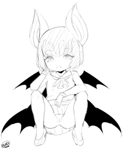 Rating: Questionable Score: 1 Tags: 1girl animal_ears born-to-die copyright_request eyebrows_visible_through_hair fangs full_body looking_at_viewer monochrome nopan pussy shoes simple_background sketch solo uncensored white_background wings User: Domestic_Importer