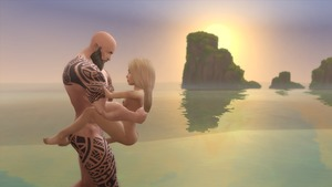 Rating: Explicit Score: 10 Tags: 1boy 1girl 3dcg age_difference artist_request ass barefoot blonde_hair breasts held_up long_hair nipples nude ocean outdoors penis photorealistic reflection sex shadow small_breasts source_request standing the_sims_(series) the_sims_4 water User: mitskits