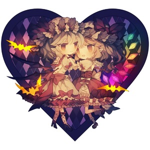 Rating: Safe Score: 0 Tags: 2girls bat bat_wings blonde_hair chibi dress eye_contact fang flandre_scarlet hands_on_another's_shoulders heart high_heels highres looking_at_another multiple_girls open_mouth pointy_ears purple_hair red_eyes remilia_scarlet siblings sisters smile standing standing_on_one_leg touhou_project wings wiriam07 User: DMSchmidt