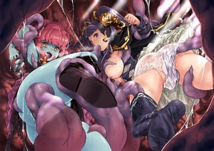 Rating: Explicit Score: 3 Tags: 2girls armpits ass blue_skin boots breasts breasts_outside brown_hair cape chain cowtits hair_ornament large_breasts minami_juujisei multiple_girls open_mouth pantsu pink_hair purple_eyes purple_hair reaper_(sekaiju) riri_(sekaiju) sekaiju_no_meikyuu sekaiju_no_meikyuu_5 sororu tentacles tentacles_under_clothes thighhighs twin_tails underwear wet wet_clothes yellow_eyes User: DMSchmidt