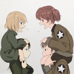 Rating: Safe Score: 0 Tags: 4girls alisa_(girls_und_panzer) angry black_hair blonde_hair blue_eyes brown_eyes brown_hair carrying chimaki_(u9works) face-to-face fang freckles girls_und_panzer green_jacket jacket katyusha military military_uniform multiple_girls naomi_(girls_und_panzer) nonna profile short_twin_tails shoulder_carry shouting simple_background twin_tails uniform User: Domestic_Importer