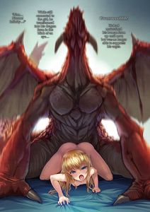 Rating: Explicit Score: 10 Tags: 1boy 1girl all_fours ass bed_sheet bestiality blonde_hair blue_eyes blush bosshi claws dragon highres horn kneeling long_hair looking_at_viewer moaning motion_blur nude open_mouth original sex sheet_grab size_difference text thighs tongue uncensored wings User: DMSchmidt
