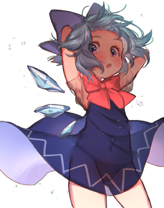 Rating: Questionable Score: 7 Tags: 1girl :o arms_behind_back arms_up ass_visible_through_thighs blue_bow blue_dress blue_hair blue_wings blush bow bowtie cirno detached_wings dress fairy hair_bow highres ice ice_wings light_blue_hair masanaga_(tsukasa) navel open_mouth pink_eyes pussy red_bow red_neckwear see-through short_hair short_sleeves simple_background solo touhou_project white_background wings User: DMSchmidt