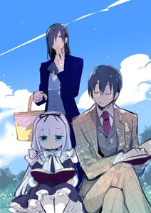 Rating: Safe Score: 0 Tags: 1girl 2boys alternate_costume biscuit blue_eyes blue_sky book bow closed_eyes cloud cravat crossed_legs day dress eating fafnir_(maidragon) food formal glasses hair_over_one_eye hair_ribbon hairband jitome kanna_kamui kobayashi-san_chi_no_maidragon lavender_hair low_twintails monocle multiple_boys necktie open_book open_mouth picnic_basket reading red_eyes red_neckwear ribbon round_eyewear shatou_(c-com) sky suit takiya_makoto tweed twin_tails twitter_username white_bow User: DMSchmidt