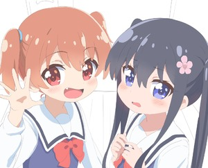 Rating: Safe Score: 0 Tags: 2girls :d bangs black_hair blue_eyes blue_vest blush bow brown_hair eyebrows_visible_through_hair fang flower hair_between_eyes hair_flower hair_ornament hoshino_hinata long_hair long_sleeves looking_at_viewer multiple_girls open_mouth parted_lips partially_coloured pink_flower red_bow red_eyes sailor_collar school_uniform serafuku shirosaki_hana shirt smile trg-_(sain) twin_tails vest watashi_ni_tenshi_ga_maiorita! white_sailor_collar white_shirt User: Domestic_Importer